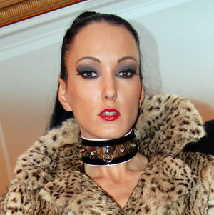 Fetish Liza in ocelot fur coat