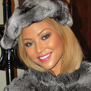 Natalia Forrest in chinchilla fur jacket and hat