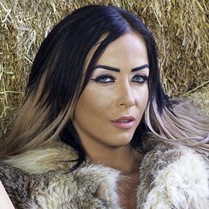 Shateela hot sultry skinny babe lynx fur jacket