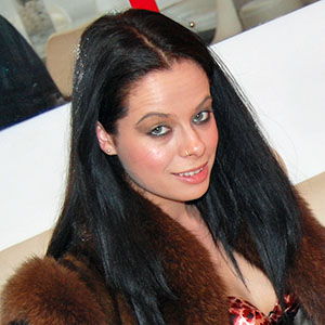 Tiffany Naylor in brown mink and fox fur coat