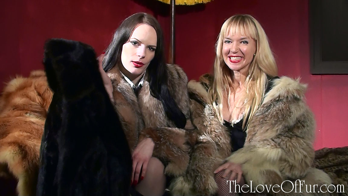 Rebekka Raynor in crystal fox fur and Mouse in lynx fur give you a mink coat to play with