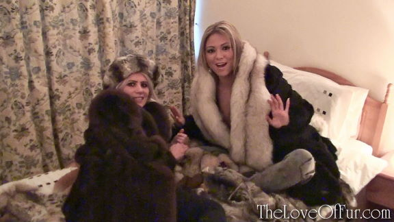 Ashleigh Mckensie and Natala Forrest are discovered in a pile of fur coats