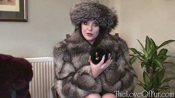 Mistress Shay Hendrix commands you in silver fox fur coat and hat