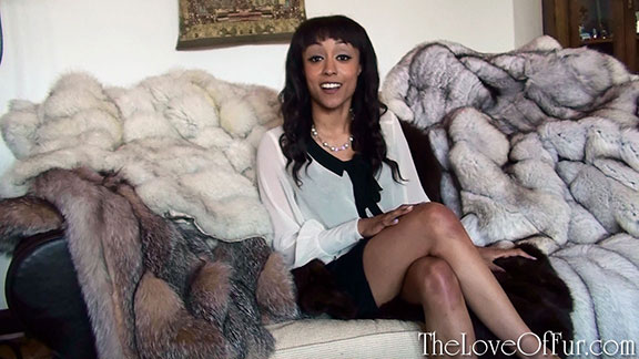 Realtor Alyssa Divine explores a manor house and finds many fox fur coats lying around