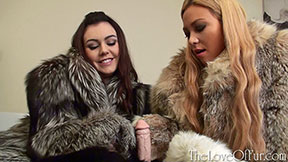 Kacie James Natalia Forrest bed of furs handjob