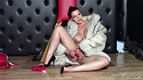 love of fur fetish dungeon diva cherry blush toni leanne fox jacket dildo sex toy