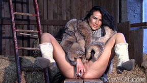 fur coat fucking fetish love kasia crystal fox cowboy boots dildo sex toy