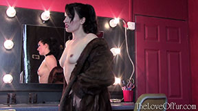 mink fur coat jasmine lau fetish slim body hottie pert tits topless