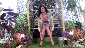 kasia love of fur lynx jacket spotted real leggy european brunette babe big tits