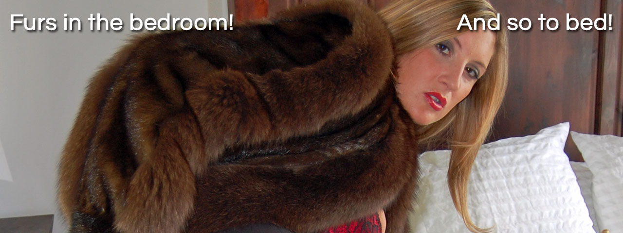The Love of Fur busty milf housewife girl next door mom Leona Lee in mink fox coat home bedroom