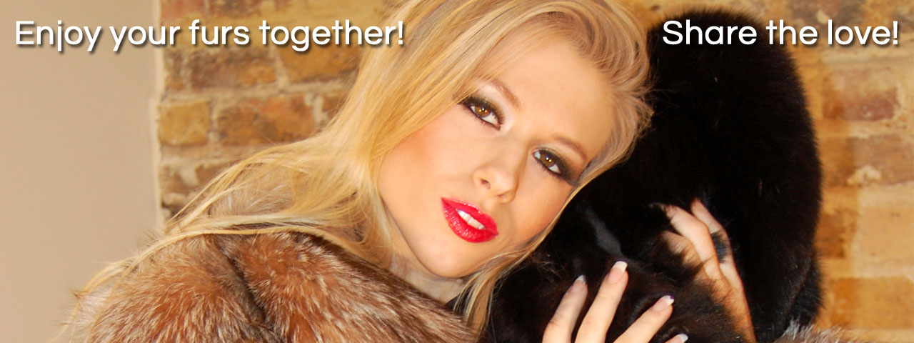 The Love Of Fur glamor babe blonde Michelle Moist in fox coat jacket cuddle sensual massage loving